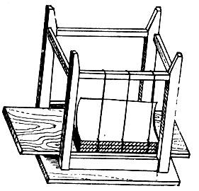 Рис. 13. Шитье с использованием табуретки