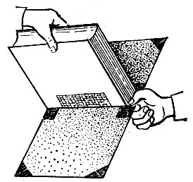 Рис. 65. Соединение блока с обложкой